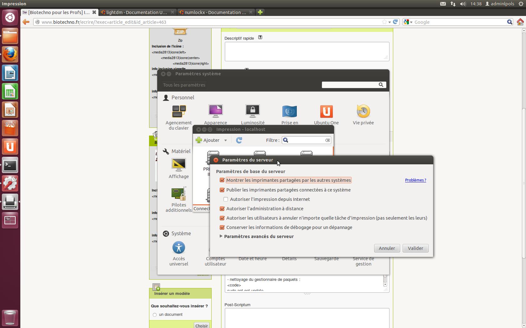 l'installation de wordpress sur ubuntu précise