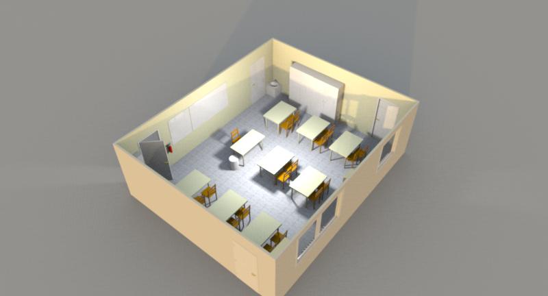disposition de la salle pse classe invers e. Black Bedroom Furniture Sets. Home Design Ideas